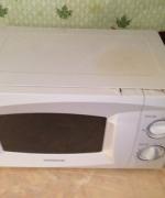 Микроволновая печь после
