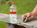 Как отмыть стекло от пятна краски