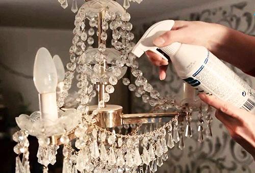 Как помыть хрустальную люстру