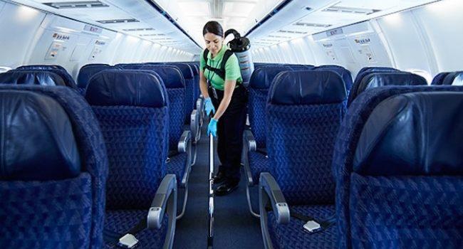 Новые подходы к уборке салонов самолетов